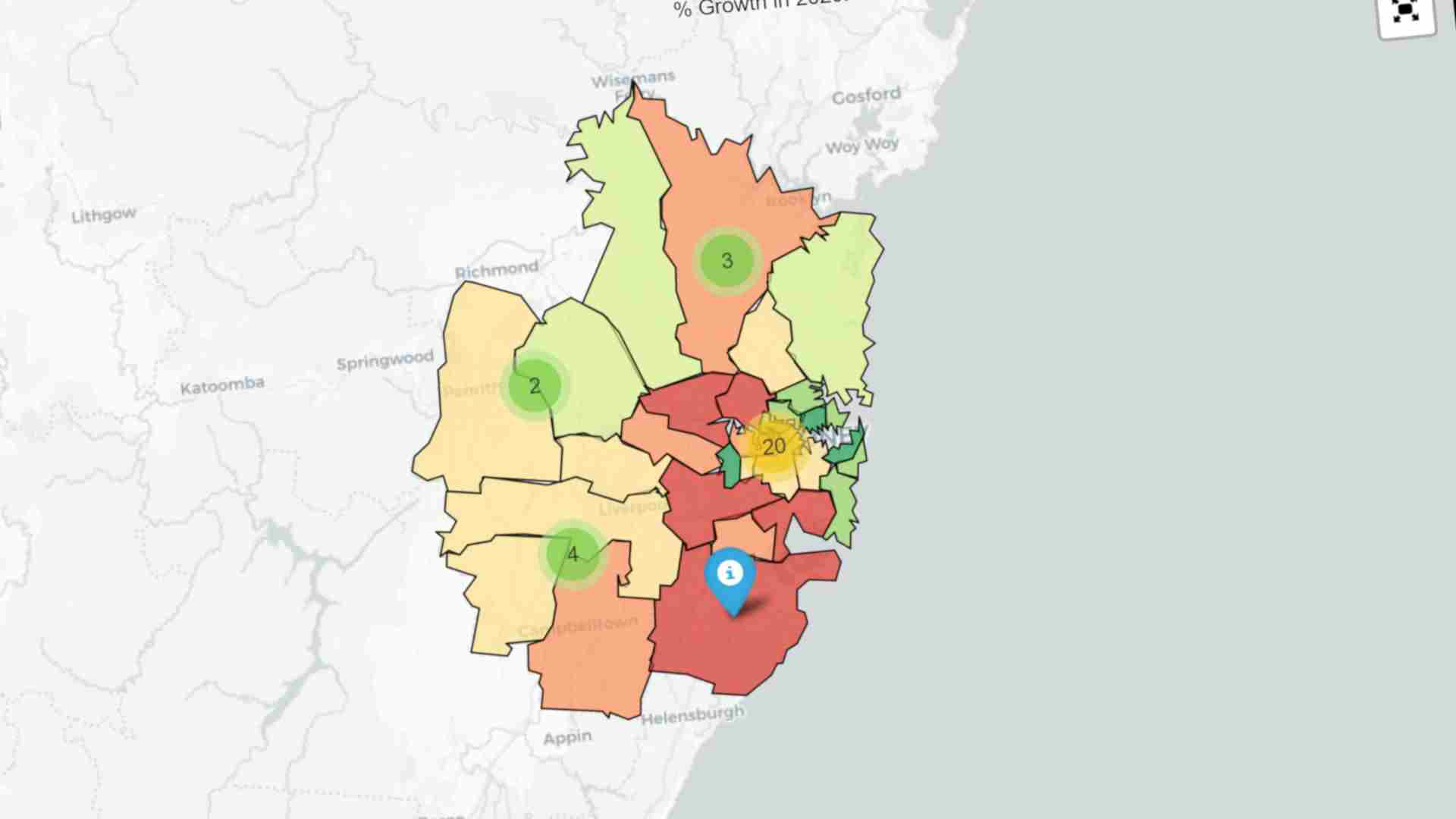 Interactive maps show the impact of COVID-19 on house prices