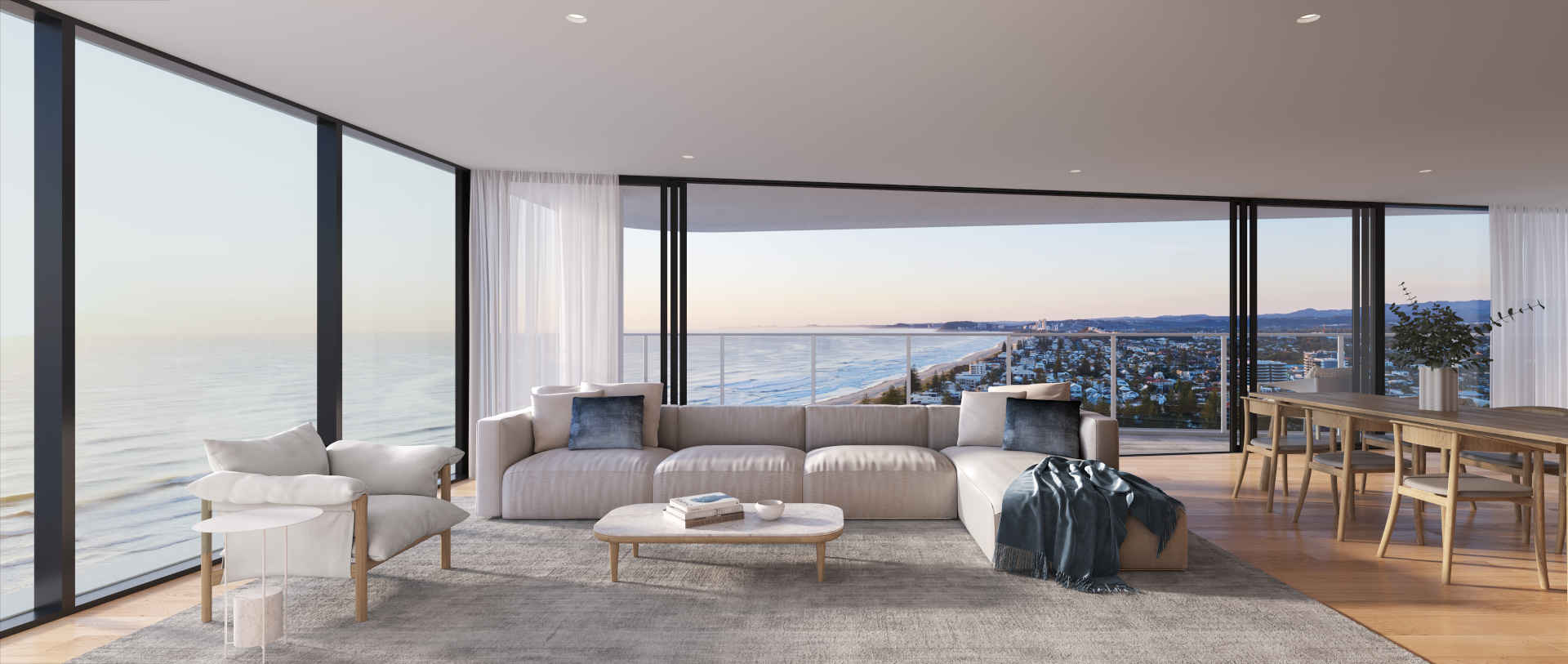 Sweeping ocean views and high levels of luxury are key elements of Mosaic's fast-selling Dawn. Images: Mosaic Property Group