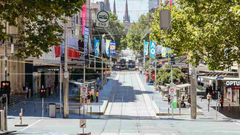 Melbourne locks down but property still rises